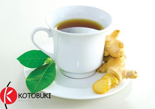 trà gừng chống lão hóa da